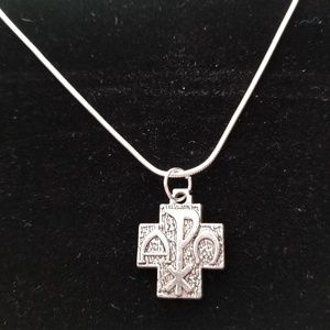 Pax Peace Cross .925 Sterling Silver Necklace